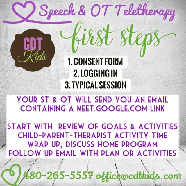 Speech OT Teletherapy First Steps